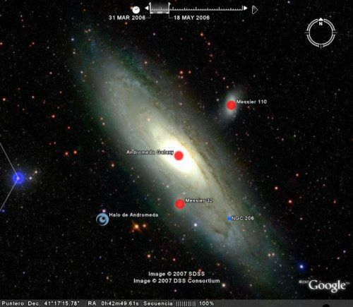 Google Earth Free. Explorando otras Galaxias