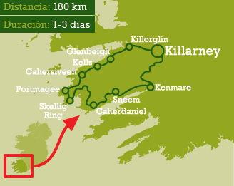Anillo De Kerry Mapa.Anillo De Kerry Y Anillo De Beara Ruta Irlanda Tips De
