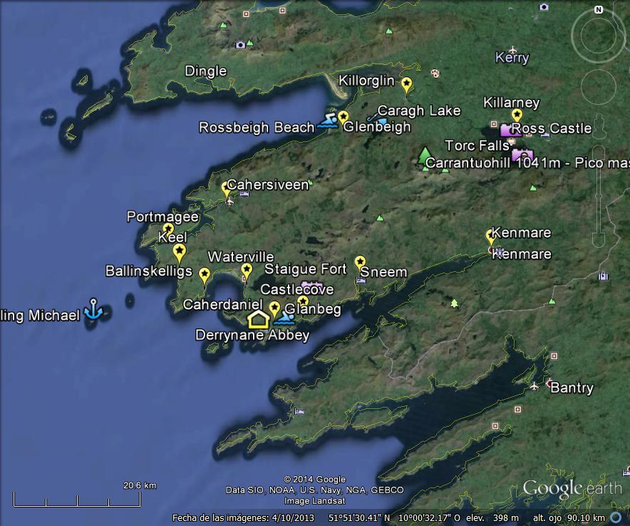 Anillo De Kerry Mapa.El Anillo De Kerry Ruta Por Irlanda En Google Maps