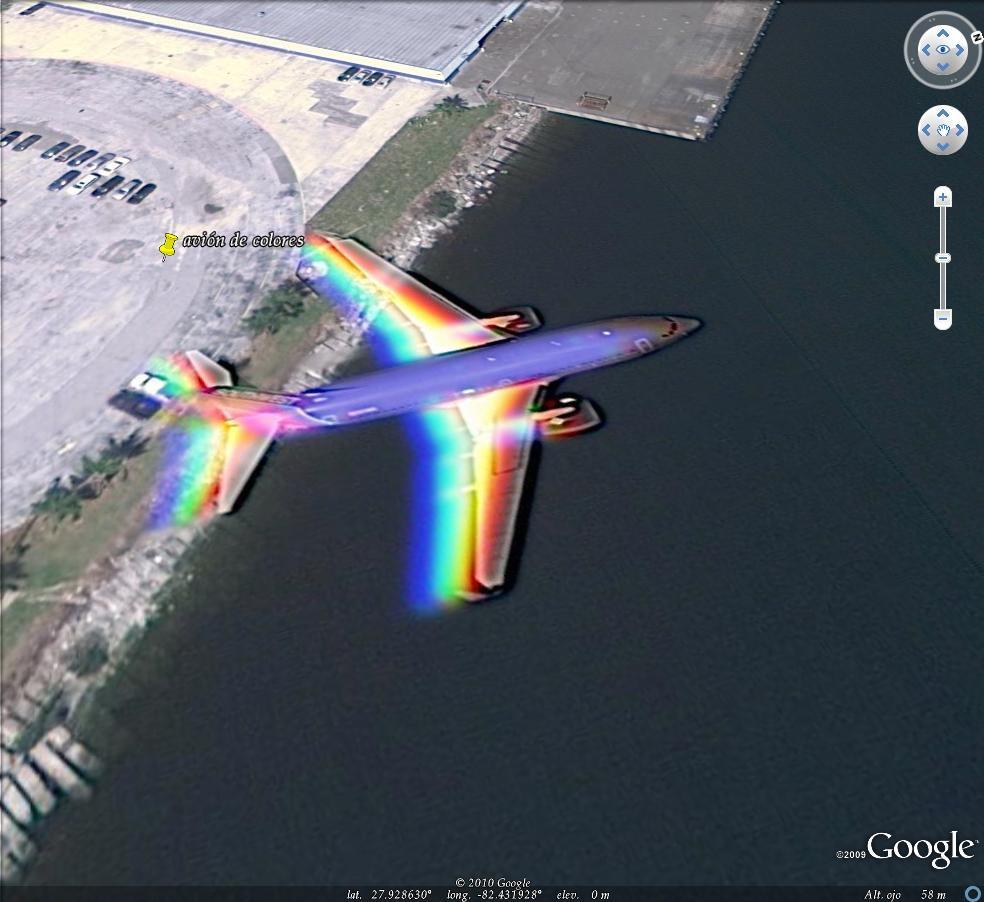 AVIONES VOLANDO en Google Maps- 918 - Google-Earth.es