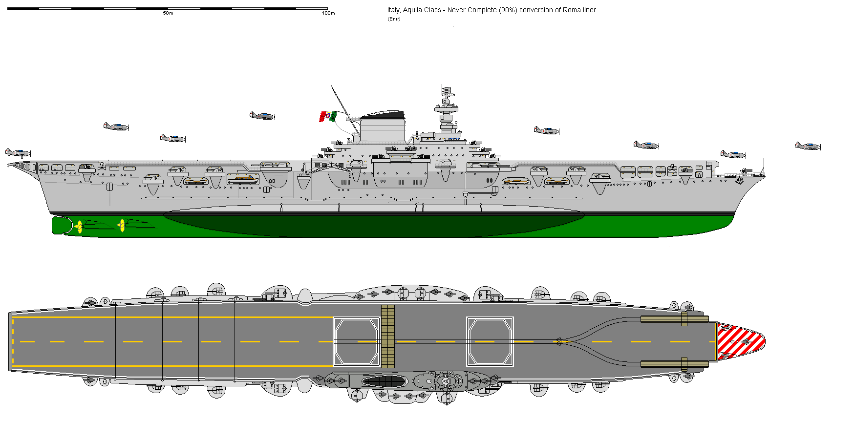 italian  u0026 french cv premium ships - aircraft carriers