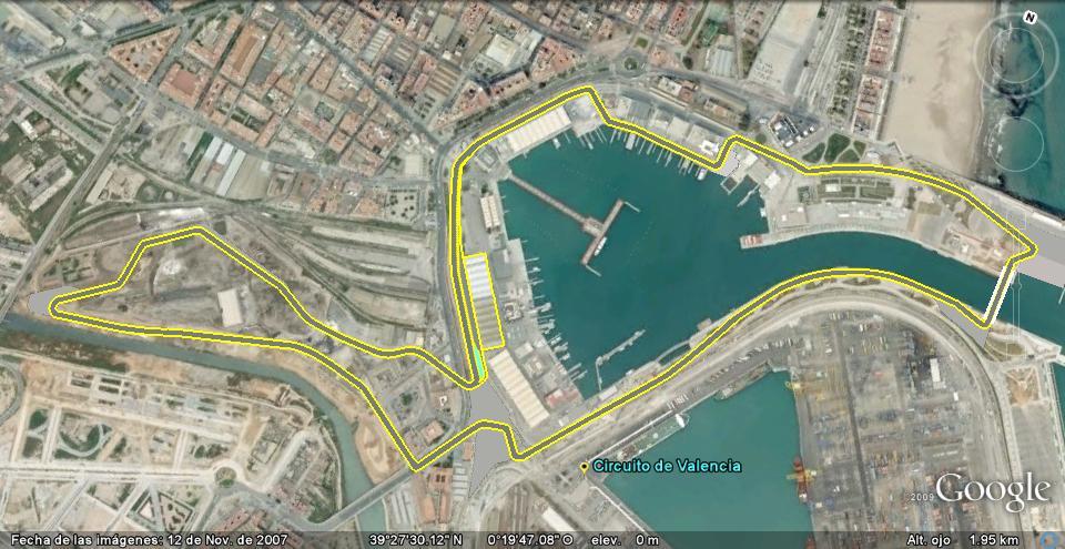 Circuito Valencia F1 : Circuitos calendario formula google maps