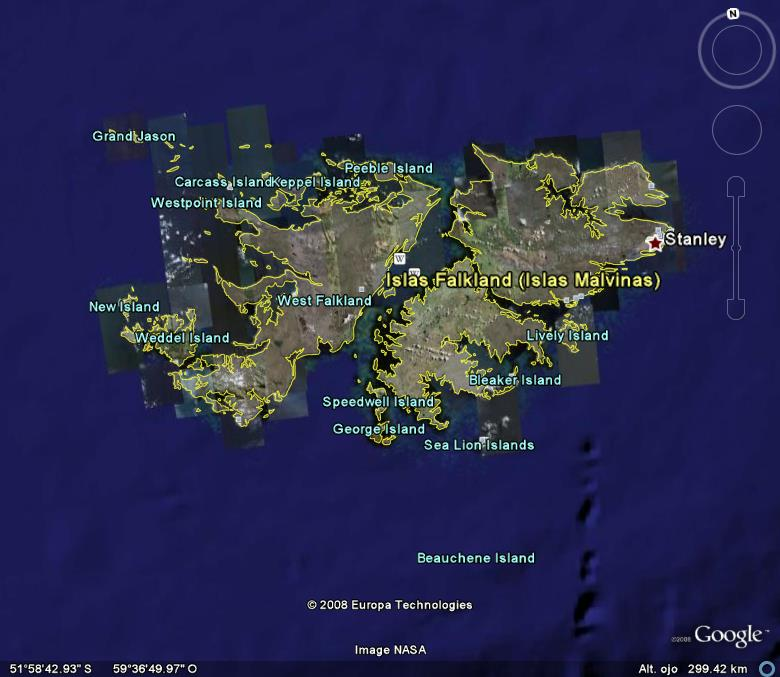 Islas malvinas de donde son google maps 19044 - Como son los ingleses ...