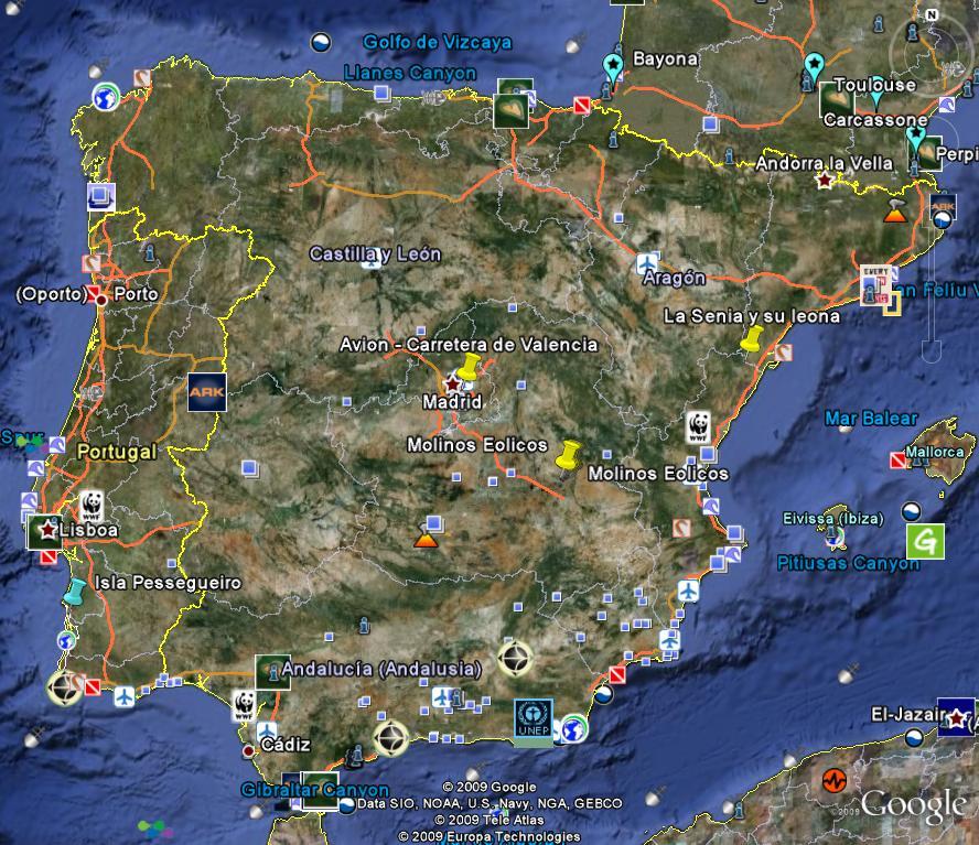 Poblaciones De Espana Google Earth Es
